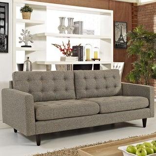 Empress Oatmeal Upholstered Sofa