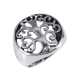 Graceful Swirls Tree of Life .925 Sterling Silver Ring (Thailand)