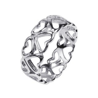 Amazing Heart Bonds of Love .925 Sterling Silver Ring (Thailand)
