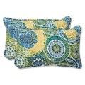 Pillow Perfect 'Omnia Lagoon' Rectangular Outdoor Throw Pillow (Set of 2)