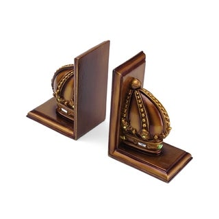 Elements Bronze Crown Bookends (Set of 2)