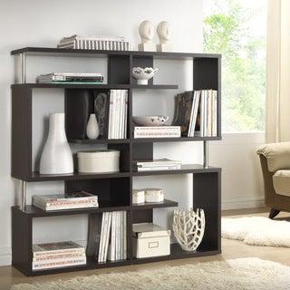 Baxton Studio Milo Dark Brown/ Espresso Modern Storage Shelf