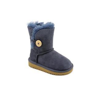 Ugg Australia Girl (Toddler) 'Bailey Button' Regular Suede Boots
