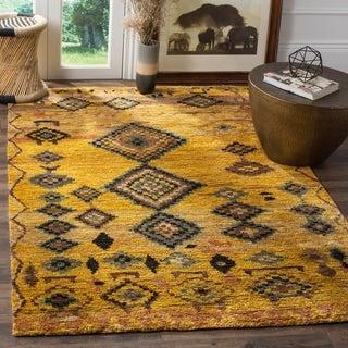 Safavieh Hand-knotted Tangier Gold Wool/ Hemp Rug (8' x 10')