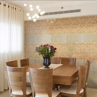 SomerTile Wood Grain Beige Porcelain Mosaic Tile (Pack of 10)