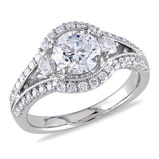 Miadora 18k White Gold 1 2/5ct TDW Certified Diamond Ring (E, SI2)