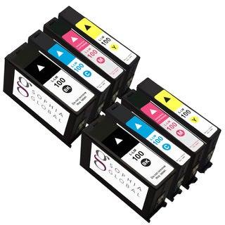Sophia Global Remanufactured Ink Cartridge Replacement for Lexmark 100 (2 Black, 2 Cyan, 2 Magenta, 2 Yellow)