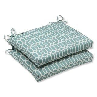 Pillow Perfect Outdoor Rhodes Quartz Squared Corners Seat Cushion (Set of 2)