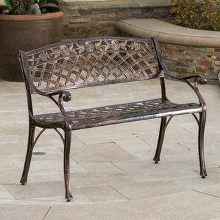 Christopher Knight Home Hamilton Copper Cast Aluminum Outdoor Bench