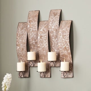 Upton Home Victoria Antiqued Silver Wall Mount Candelabra
