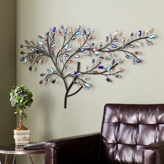Upton Home Willow Multicolor Metal/ Glass Tree Wall Sculpture