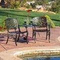 Christopher Knight Home Sarasota Bronze Cast Aluminum Outdoor Adjoining Chair