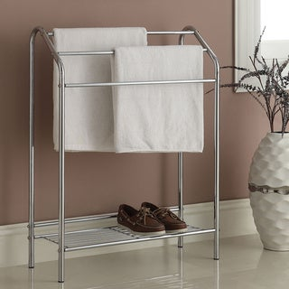 3-bar Chrome Finish Bathroom Rack