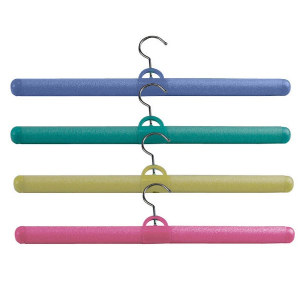 Bendable 6-piece Assorted Color Foam Hanger Pack