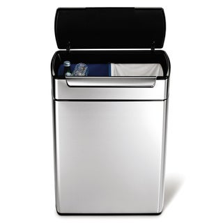 simplehuman Stainless Steel Touch-bar Recycle Can