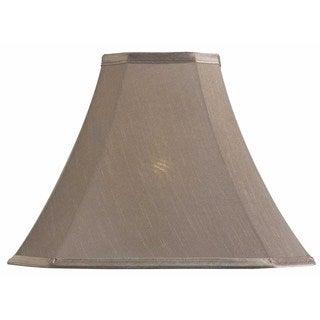 Design Match 15-inch Cut Corner Square Taupe Lamp Shade