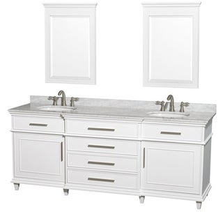 Berkeley White 80-inch Double Bathroom Vanity