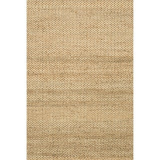 Hand-woven Natural Beige Jute Rug (5' x 7'6)