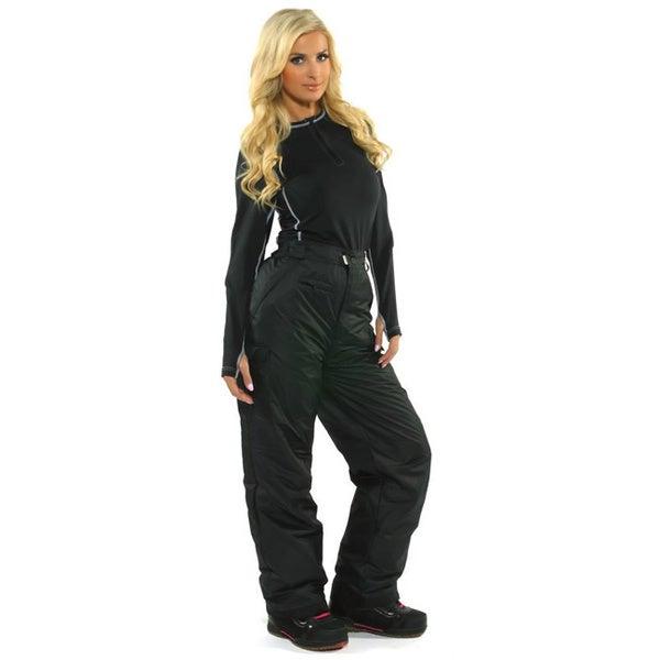 Pulse Women's Black Cargo Snowboard Pants