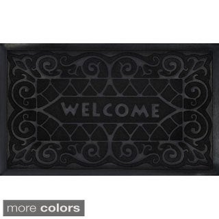 Wrought Iron Recycled Rubber Welcome Mat (18 x 30-inch)