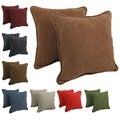 Blazing Needles 18-inch Double-corded Chenille Throw Pillows (Set of 2)