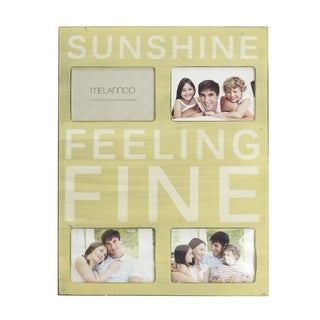 Melannco Sunshine 18-inch 4-opening Wall Plaque