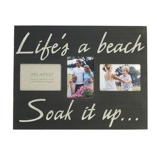 Melannco Life's a Beach 18-inch 3-opening Wall Plaque