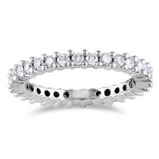 Miadora 14k White Gold 1ct TDW IGL-certified Diamond Eternity Ring (G-H, I1-I2)