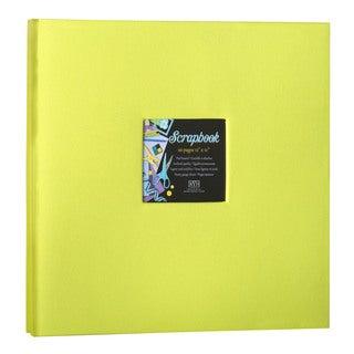 Kleer Vu Cloth Fabric Lime Green Post Bound Scrapbook (12x12)