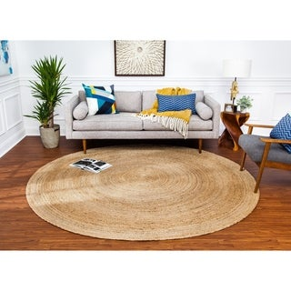 Tara Natural Braided Jute Rug (6' Round)