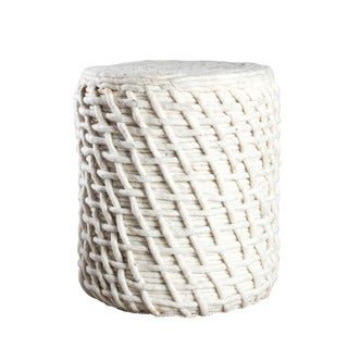 William Handmade Wool Pouf (India)