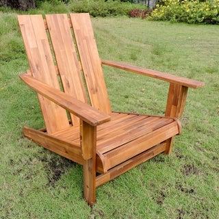 International Caravan Acacia Square-back Adirondack Patio Chair