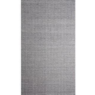Handwoven Angus Charcoal/ Natural Wool Rug (India)