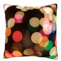 Blurred Christmas Lights 18-inch Velour Throw Pillow