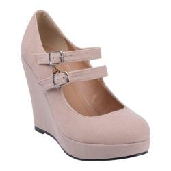 Women's Beston Dolly-4 Taupe Faux Suede