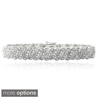 DB Designs 1ct Diamond Wave Link Tennis Bracelet