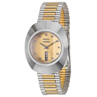 Rado Men's 'Original' Stainless Steel and Yellow Gold-Plated Swiss Quartz Watch