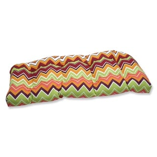 Pillow Perfect Zig Zag Outdoor Wicker Loveseat Cushion