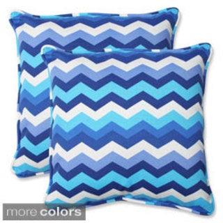 Pillow Perfect Panama Wave 18.5-inch Outdoor Throw Pillows (Set of 2)
