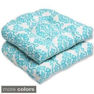 Pillow Perfect 'Luminary' Outdoor Wicker Seat Cushions (Set of 2)