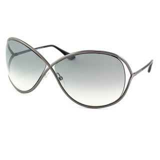 Tom Ford Womens 'TF130 Miranda 08B' Shiny Gunmetal Sunglasses