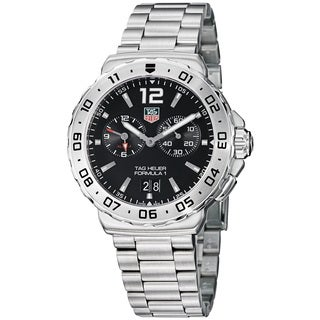 Tag Heuer Men's WAU111A.BA0858 'Formula 1' Black Dial Stainless Steel Alarm Watch