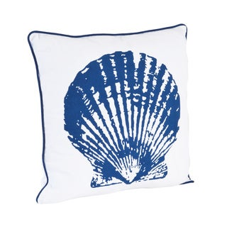 Clam Shell Design Down Filled Throw Pillow