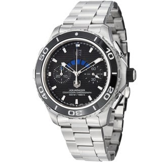 Tag Heuer Men's CAK211A.BA0833 'Aquaracer500' Black Dial Stainless Steel Watch