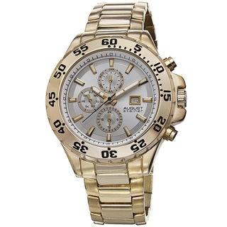August Steiner Men's Swiss Quartz Multifunction Bracelet Watch