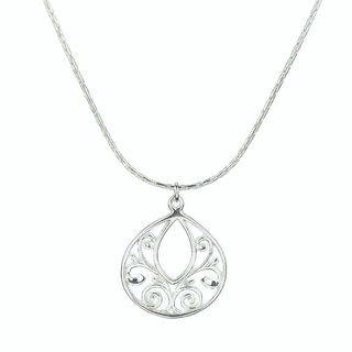 Jewelry by Dawn Sterling Silver Fancy Filigree Teardrop Necklace