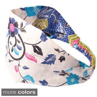 Women's Spring Floral-printed Bali Yoga Headband (Indonesia)