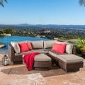 Christopher Knight Home Branson Outdoor 4-piece Multibrown Wicker Sofa Set