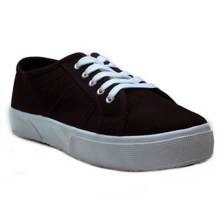 Blue Women's 'Kindle' Black Fabric Lace-up Sneakers