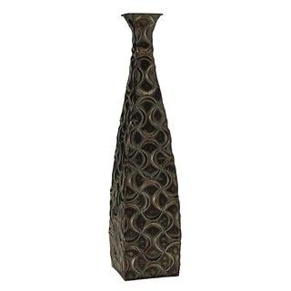 Elements 24-inch Metal Bronze Ogee Vase